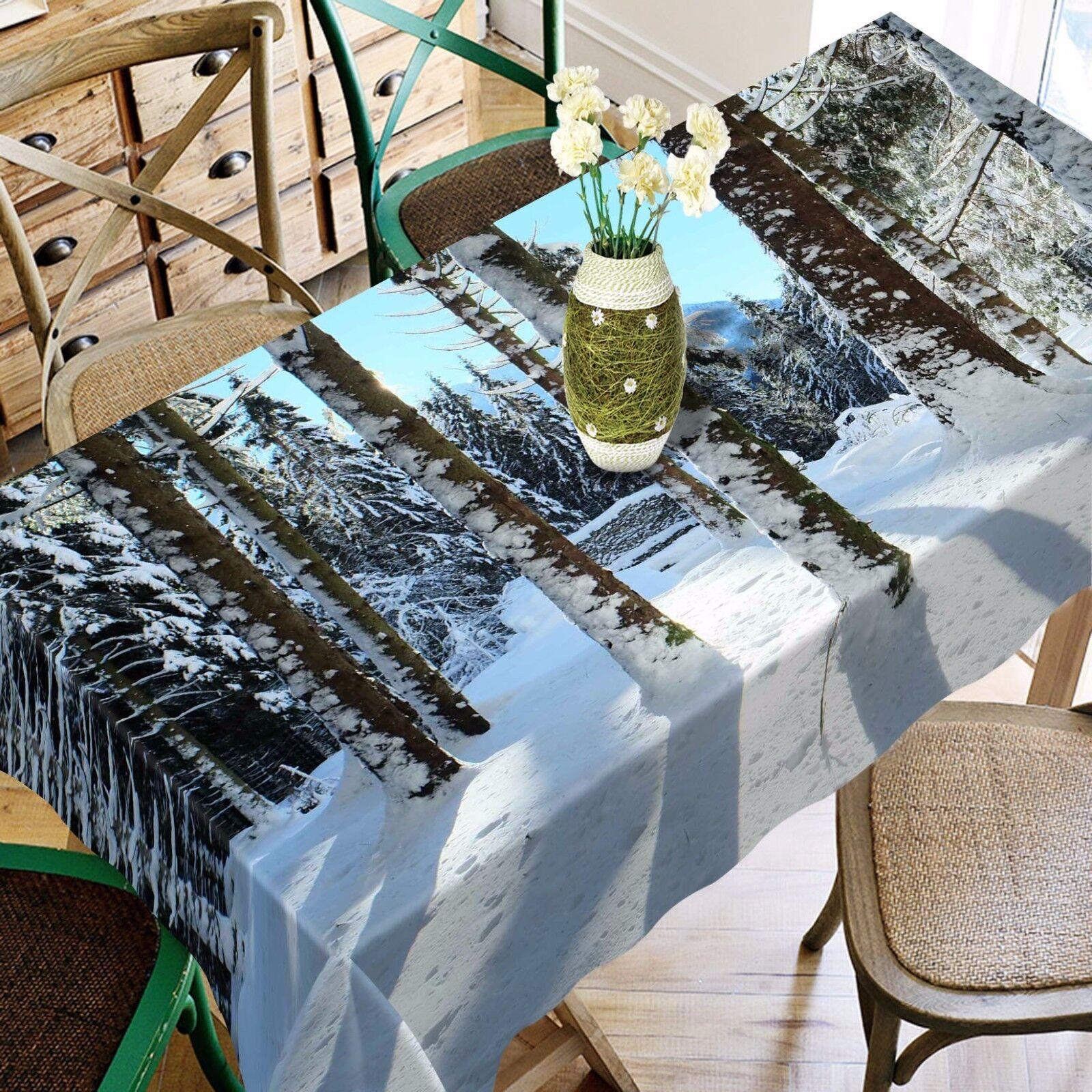 3D Blanche neige Nappe Table Cover Cloth fête d'anniversaire AJ papier peint Royaume-Uni Citron