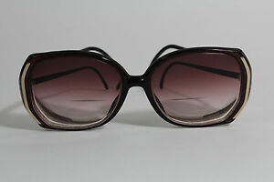 Vintage-Luxotica-Designer-Fashion-Burgundy-Classic-Eyeglasses-Rose-Fade-Lenses
