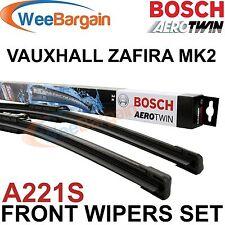 VAUXHALL ZAFIRA B MK2 2005- Genuine BOSCH A221S Aerotwin Front Wiper Blades Set