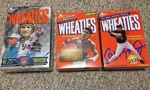 Wheaties Box Lot Of 3 NFL 75th Anniversary Edition Shula Butkus / Ali / Ripken