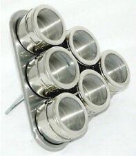 7 tlg. Magnet Gewürzregal Gewürzbord Gewürzdose magnetisch Gewürzständer Dreieck