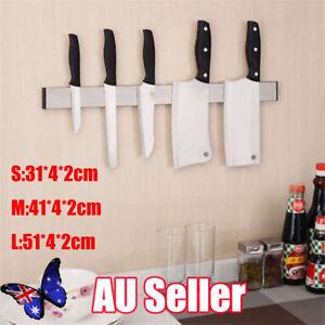 Stainless-Steel-Magnetic-Knife-Holder-Storage-Strip-Kitchen-Tool-Utensil-Rack-BK