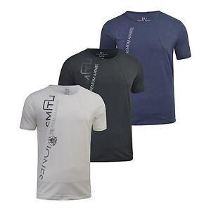 T-Shirt-Hommes-Smith-amp-Jones-Schematique-T-Shirt-Ras-de-Cou-Coupe-Standard-Coton