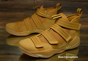 Cheap women's shoes women's shoes Nike Lebron Soldier XI SFG Wheat Gold 897646-700 Basketball Shoes Men's Multi Sz