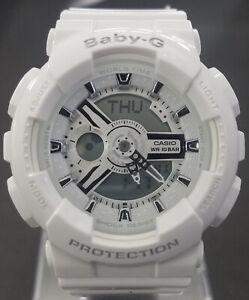 Casio-Women-039-s-Baby-G-Quartz-White-Watch-BA110-7A3-Retail-120-40-off