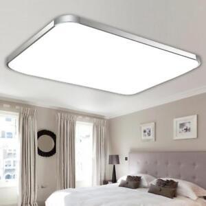 Square Modern Flush Mount Ceiling Light Lamp Led Panel Downlight White Light Ebay