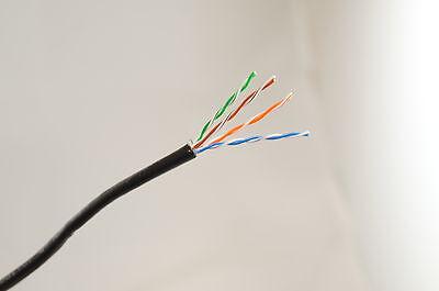 15 M Cat5e Nero Cavo Ethernet Esterno 100% Rame Più Sul Nostro Negozio - Promuovi La Produzione Di Fluidi Corporei E Saliva