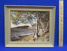 Framed Picture Print of North Shore Minnesota Signed Humphrey Vintage Birch Tree
