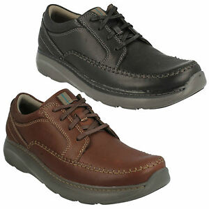 Details about CHARTON VIBE MENS CLARKS LEATHER LACE UP LIGHTWEIGHT CASUAL WORK SHOES SIZE