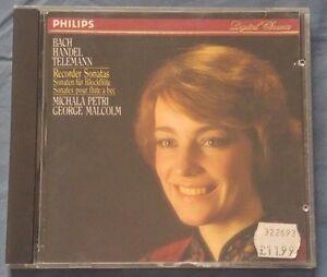 BACH-HANDEL-TELEMANN-Recorder-Sonatas-PETRI-W-Germany-Philips-CD-NO-IFPI