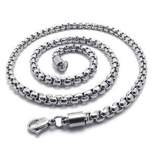 Schmuck-Herren-Kette-Edelstahl-Halskette-Silber-Breite-5mm-Laenge-55cm-F5M8