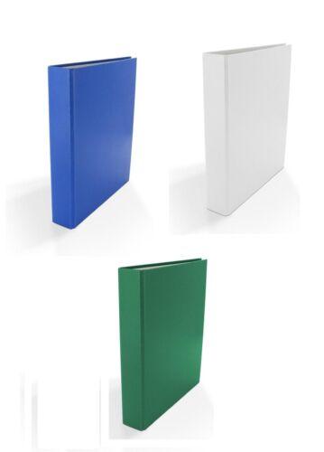 4-Ring Ordner DIN A5 blau und grün 3x Ringbuch je 1x  weiß Farbe