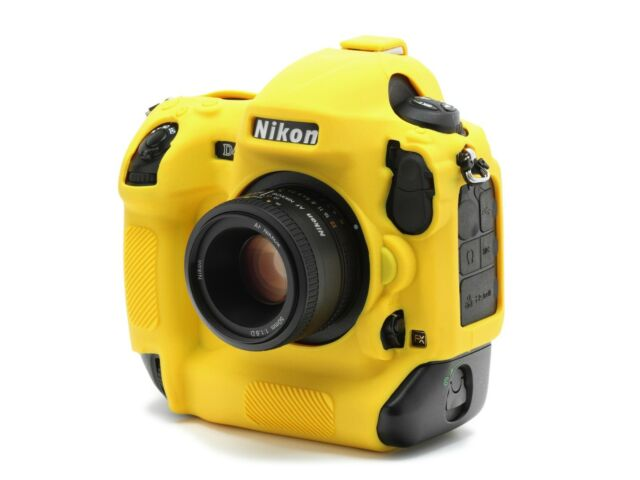 Camera silicon cover Yellow for Nikon D4 / D4S + Tow LCD Screen Protectors.