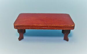 Vtg DollHouse Miniature Doll House Antique Coffee Table Furniture Accessory