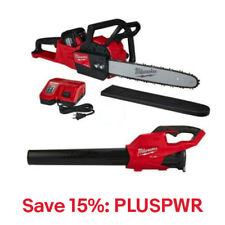 "Milwaukee 2727-21HDP 18V M18 FUEL Cordless 16"" Chainsaw & Blower,15% Off:PLUSPWR"