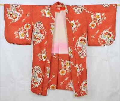 Acquista A Buon Mercato Bellissimo Vintage Giapponese Kimono Pesca / Motivo 220 G Grandi Varietà