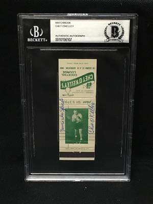 Amiable Chet O'kelley Signed Autograph Matchbook Cover Bas Beckett Slabbed 2019 Latest Style Online Sale 50% Cards & Papers
