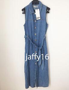 really cheap wholesale outlet best value Details about ZARA NEW WOMAN AUTHENTIC DENIM SHIRT DRESS TIED BELT MIDI  BLUE XS-L 4365/011