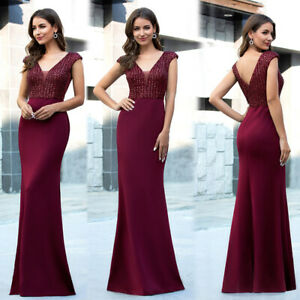 Ever-Pretty-Women-V-neck-Cap-Sleeve-Long-Prom-Dress-Fishtail-Evening-Party-Gowns