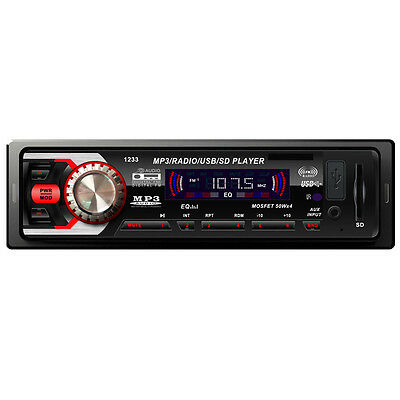 Luxury Car Audio Stereo In Dash FM With Mp3 Player USB SD MMC Input AUX Receiver