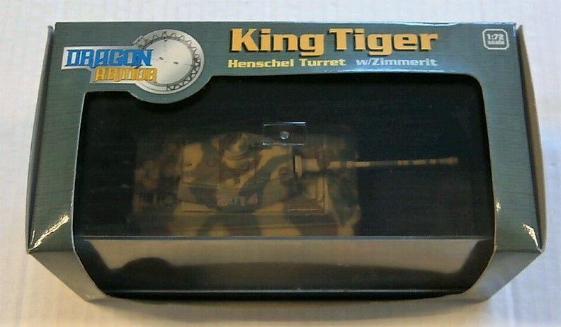 DRAGON 1 72 60048 KING TIGER HENSCHEL TURRET W ZIMMERIT