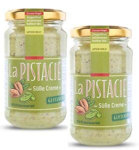 Pistaziencreme-suess-2-Stk-aus-Sizilien-Glutenfrei-mit-40-Pistazien-amp-gehackt