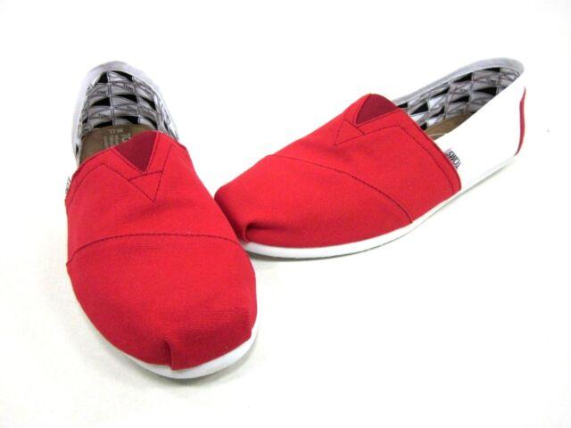 a9b6aee4c56 Toms Men s Campus Classics Shoes University of Arkansas Red white US ...
