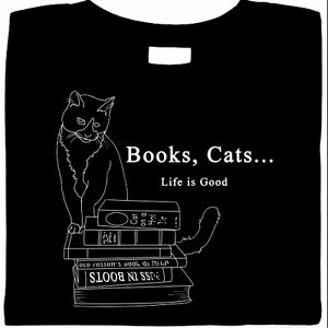 Books-Cats-Life-Is-Good-Shirt-smart-cat-shirt-ladies-black-shirt