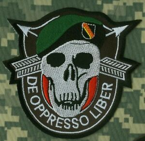 Special operations multicam shoulder patches military uniform items.