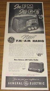 1950-Vintage-Ad-GE-General-Electric-FM-AM-Radio-amp-AM-Table-Radio
