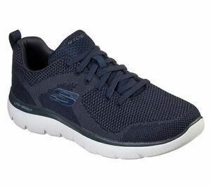 Skechers-Uomo-Blu-Memory-Summits-Sneaker-Comoda-Leggera-Traspirante-Sportiva