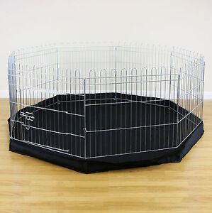 8 Sided Pet Playpen Cage & Mat Indoor/Outdoor Garden Run Dog/Puppy ...