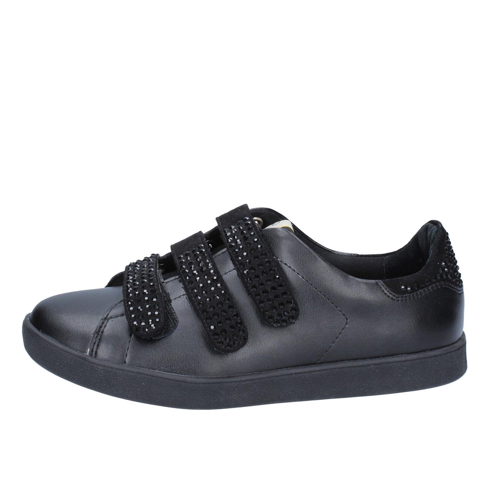 scarpe donna LIU JO camoscio 38 EU sneakers nero pelle camoscio JO BY639-38 b6e344