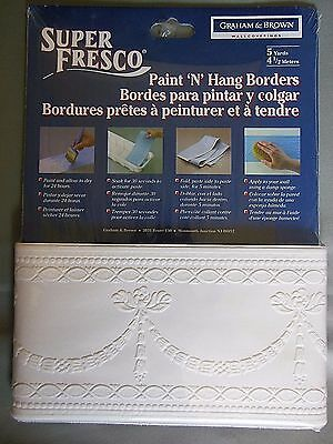 New-Super Fresco Grahm & Brown Wall Coverings Paint n hang borders 5 yards