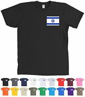 Israel Flag T-shirt Chest Logo Tee - Many Colors
