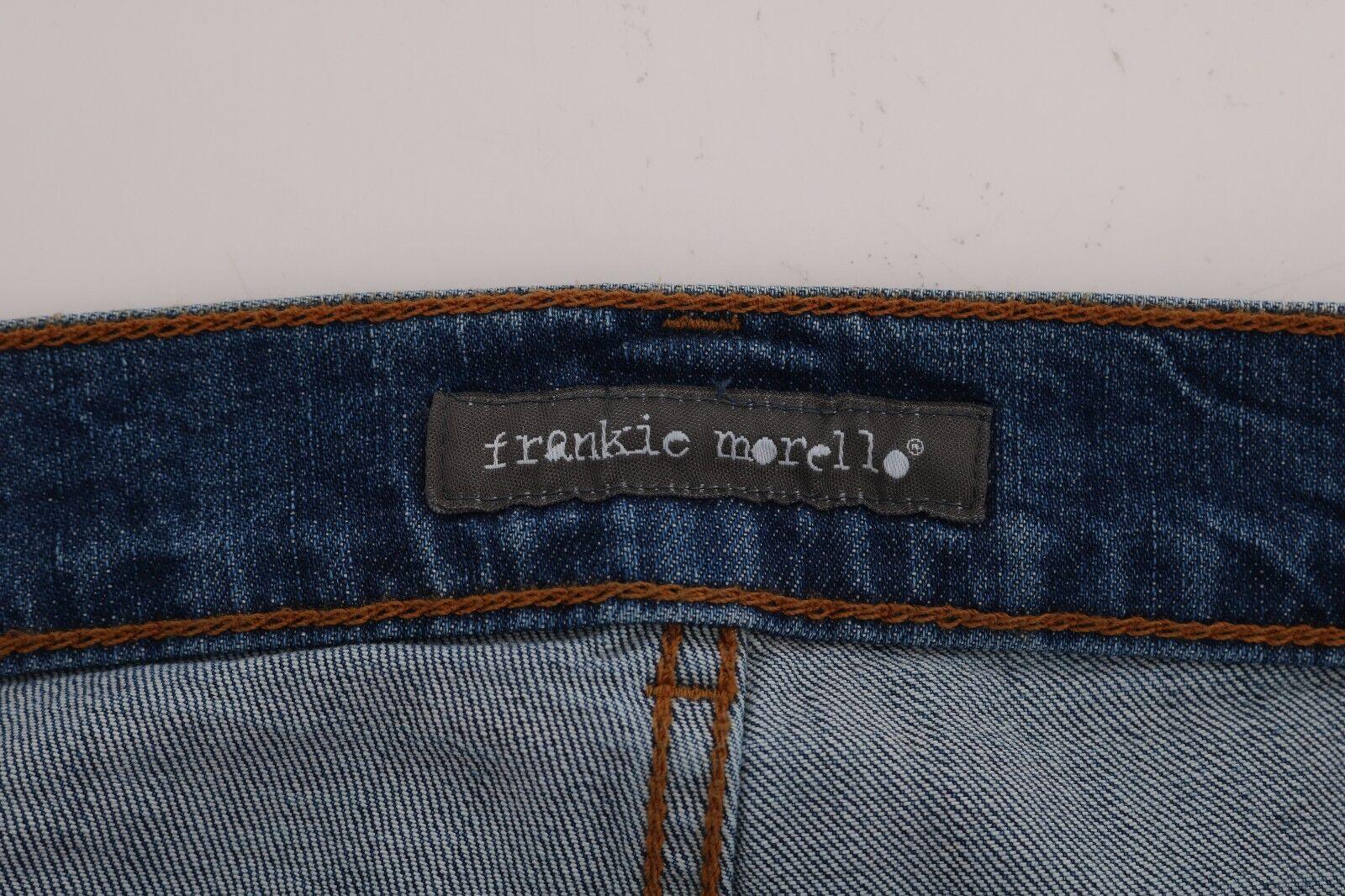 Nuovo Frankie Morello Lavaggio di Jeans Blu Torn Torn Torn Dundee Elasticizzato, Slim S. 8aa778