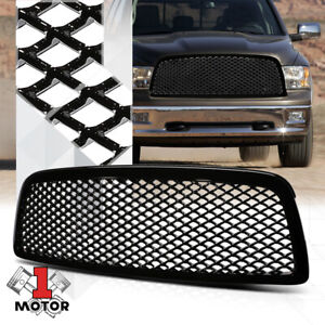 Glossy-Black-ABS-3D-Wave-Mesh-Front-Bumper-Grille-Grill-for-09-12-Dodge-Ram-1500