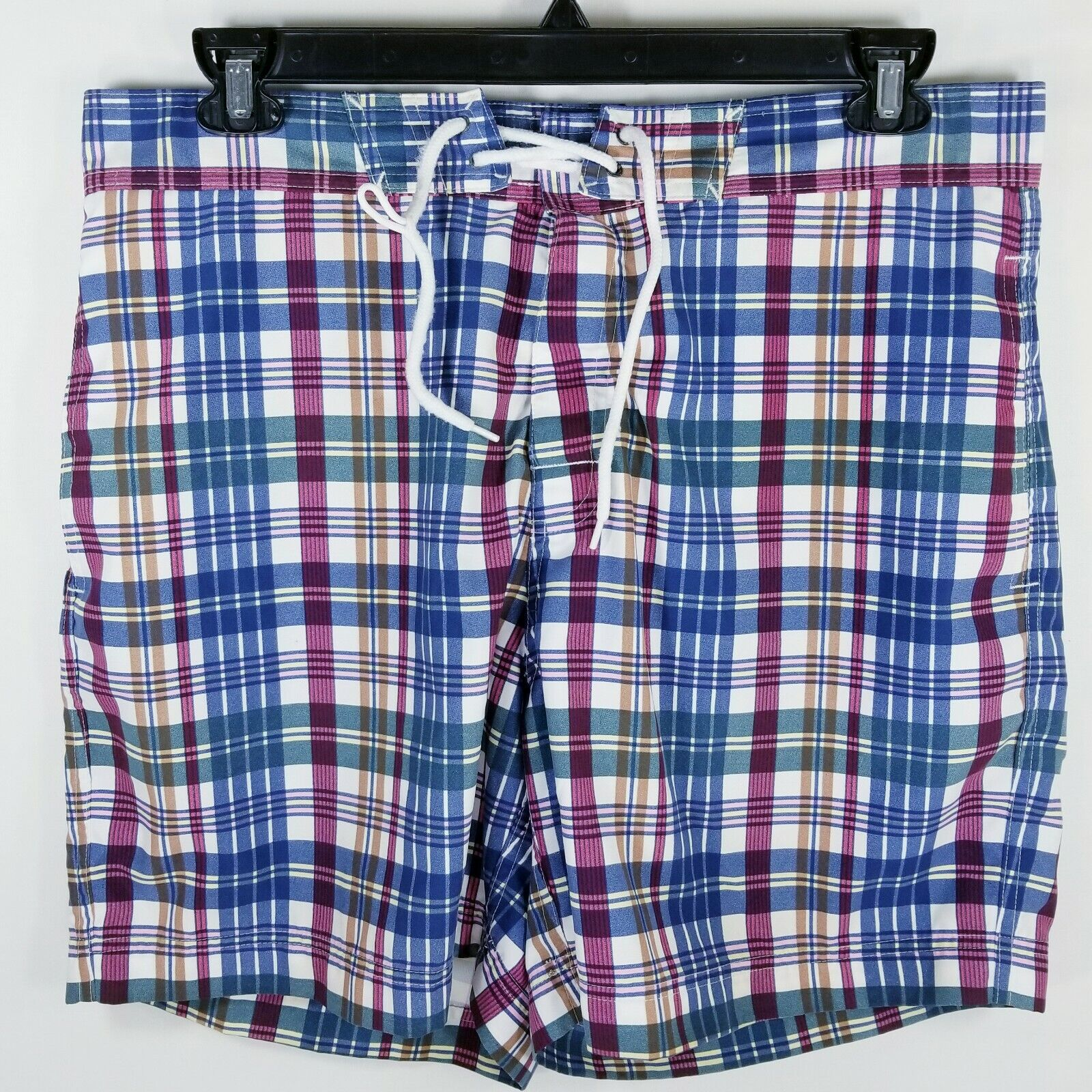 Brooks Bredhers 346 men's large swimming trunks laced Multicolord plaid