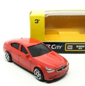 BMW-M5-Red-Diecast-Car-Scale-1-64-Approx-2-5-inches-RMZ-City