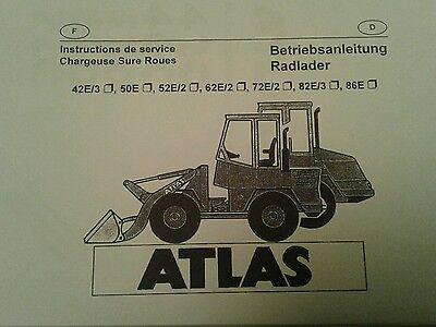 82 E3 62 E2 Hell Bedienanleitung Radlader Atlas Ar 42 E2,50,52 E2 72 E2 86 E