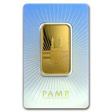 1 oz Gold Bar - PAMP Suisse Religious Series (Ka' Bah, Mecca) - SKU #94436