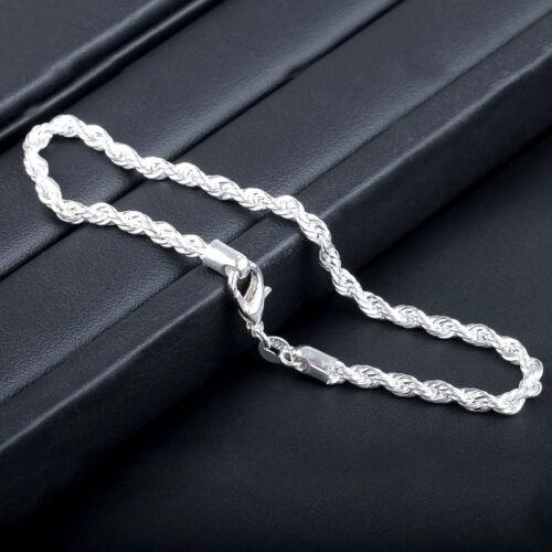 Damen Armband Kette Super Q2A1 Damenarmband Kordel Silber Schmuck 4x20cm