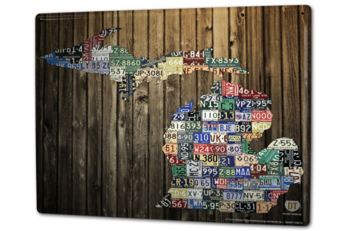 Tin Sign XXL Globetrotter  Michigan