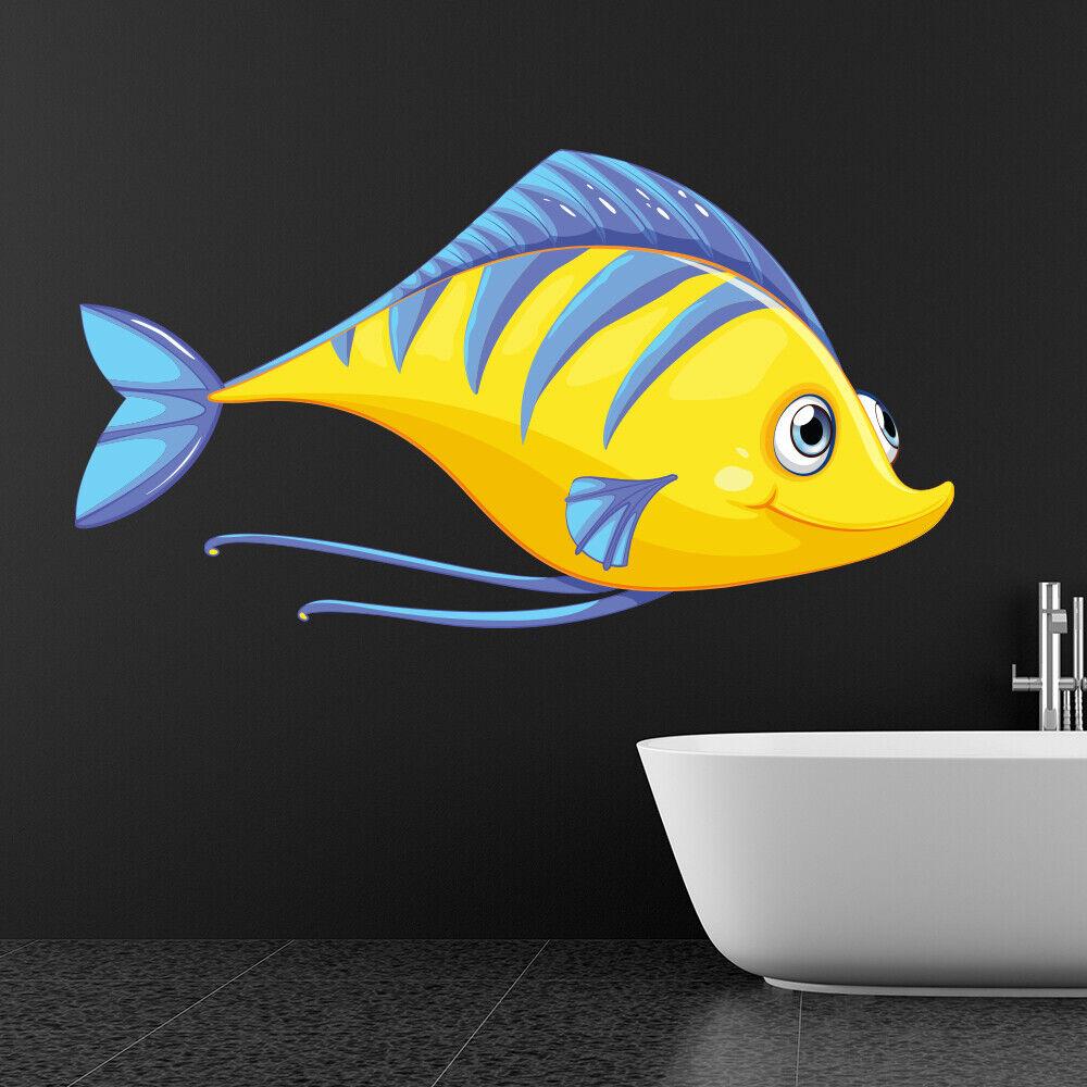 Gelber Fisch Wandtattoo Wandtattoo WS-41081