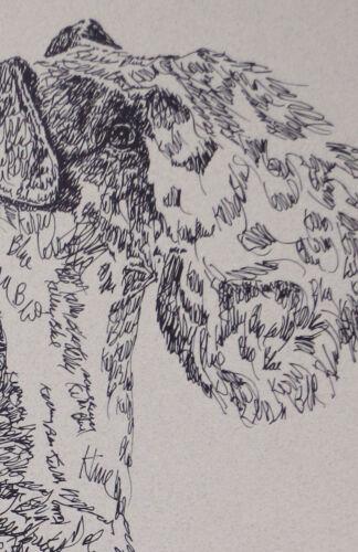 Cavalier King Charles Spaniel Dog Art Portrait #47 Kline adds dog name free.