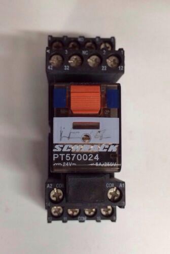SCHRACK PT570024 24VDC RELAY BASE PT78704