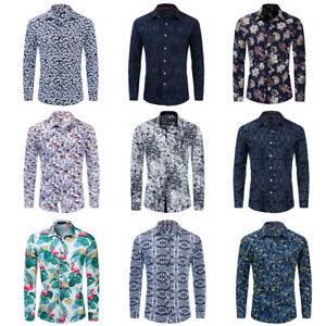New-Men-Long-Sleeve-Floral-Shirt-Beach-Hawaiian-Shirt-Printed-Cotton-Shirt-Tops