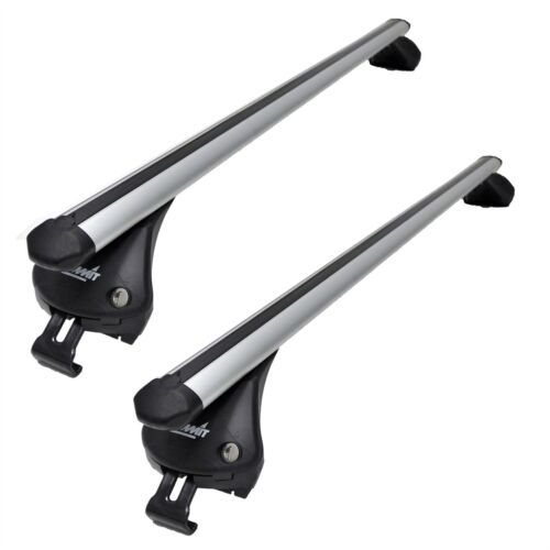 Aluminium Summit Roof Rack Cross Bars fits Seat Leon 2014-2017 Mk3 ST SW 5 DR