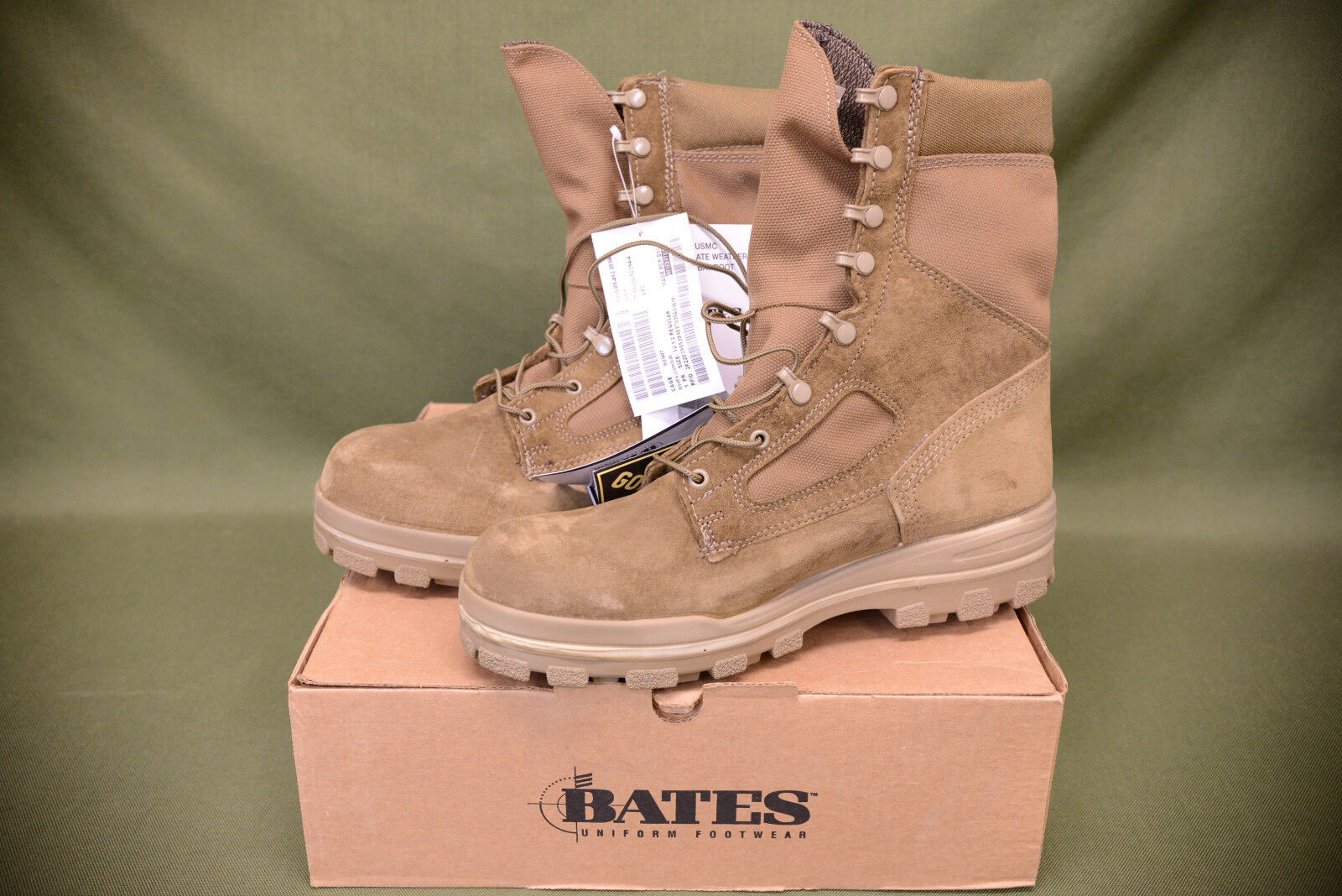 Military USMC Bates Combat Boots Temperate Weather Waterproof Goretex 7.5 R