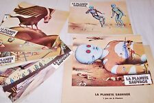 LA PLANETE SAUVAGE  laloux topor jeu 12 photos cinema lobby cards animation 1973